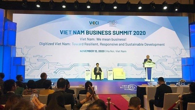 The Vietnam Business Summit 2020 is held on the sidelines of the virtual 37th ASEAN Summit and related meetings (Photo: VNA)