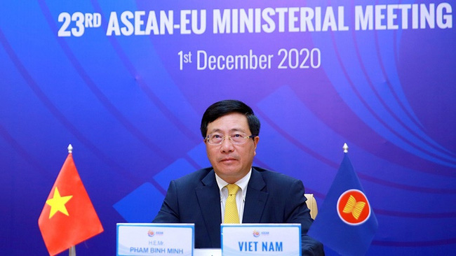 Deputy Prime Minister and Foreign Minister Pham Binh Minh at the meeting (Photo: VGP)