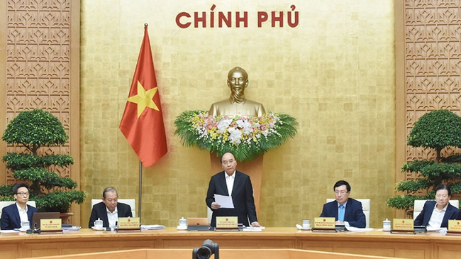 Prime Minister Nguyen Xuan Phuc at the monthly government meeting on December 2. (Photo: NDO/Tran Hai)