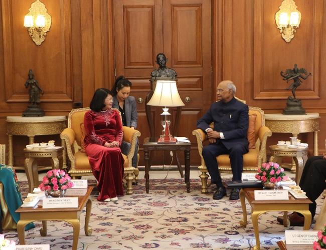 Phó Chủ tịch nước Đặng Thị Ngọc Thịnh hội kiến với Tổng thống Ấn Độ - ảnh 3