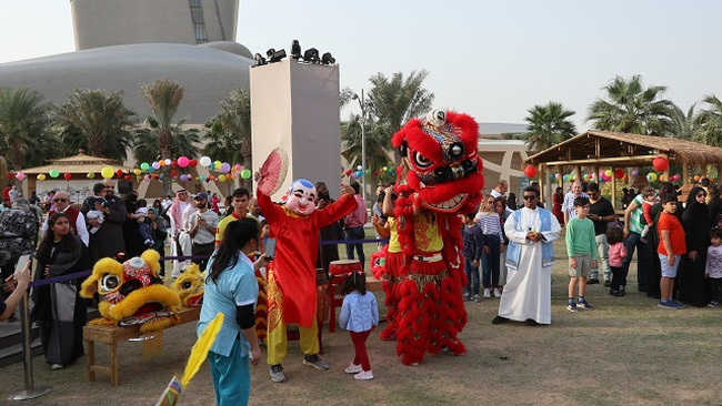 A lion dance at the event. (Photo: VNA)