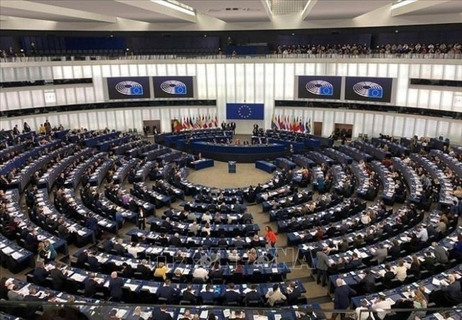 A general view of the European Parliament's plenary session in Strasbourg, France on February 12. (Photo: VNA)