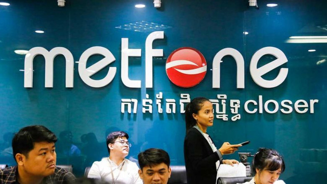 Cambodian telecom firm Metfone, a subsidiary of Vietnam's mobile carrier Viettel Group. (Photo www.phnompenhpost.com)