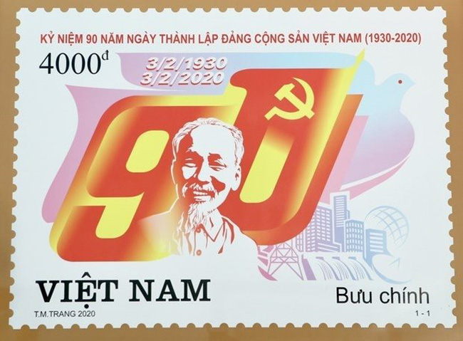 Stamp launched to mark Party's 90th founding anniversary (Photo: VNA)