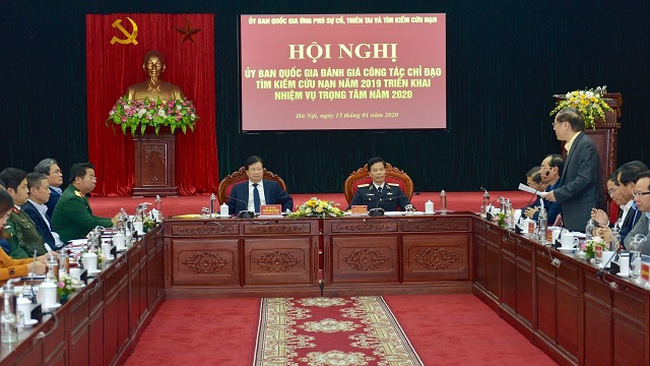 Delegates at a conference on evaluating search and rescue work 2019, Hanoi, January 15, 2020. (Photo: VGP)