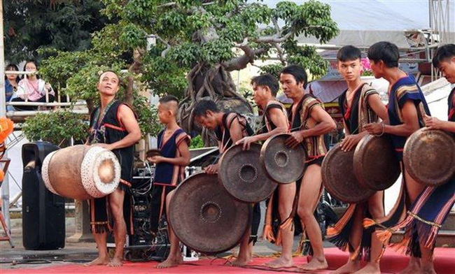 A gong performance of Central Highlanders (Photo: VNA)