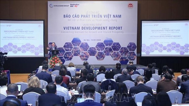 The Vietnam Development Report (VDR) 2019: Connecting Vietnam for Growth and Shared Prosperity is launched in Hanoi on January 15. (Photo: VNA)