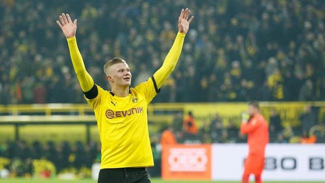 Soccer Football - Bundesliga - Borussia Dortmund v FC Cologne - Signal Iduna Park, Dortmund, Germany - January 24, 2020 Borussia Dortmund's Erling Braut Haaland celebrates scoring their fifth goal. (Photo: Reuters)