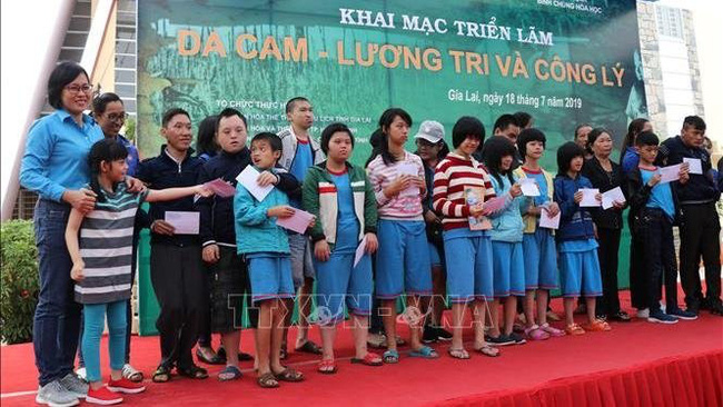 Gifts presented to AO/Dioxin victims in Gia Lai province (Photo: VNA)