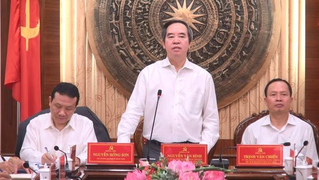 Trưởng Ban Kinh Tế Trung ương Nguyễn Văn Binh Tạo đột Pha Cho Thanh Hoa Phat Triển Vtv Vn