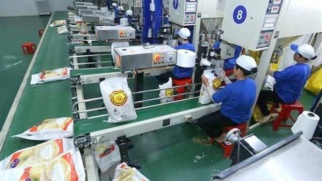 Rice packaging for exports (Photo: VNA)