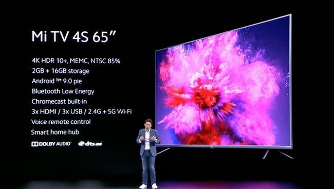 Xiaomi ra mắt Mi TV 4S: 65 inch, 4K HDR10+, giá 14 triệu đồng