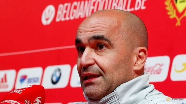 FILE PHOTO: Soccer Football - Euro 2020 Qualifier - Belgium Press Conference - Belgium Football Centre, Tubize, Belgium - October 9, 2019 Belgium coach Roberto Martinez during the press conference. (Reuters)