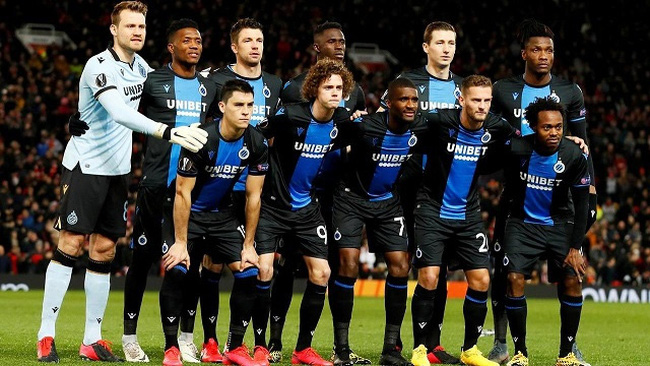 Europa League - Round of 32 Second Leg - Manchester United v Club Brugge - Old Trafford, Manchester, Britain - February 27, 2020 Club Brugge players pose for a team group photo before the match. (Photo: Action Images via Reuters)