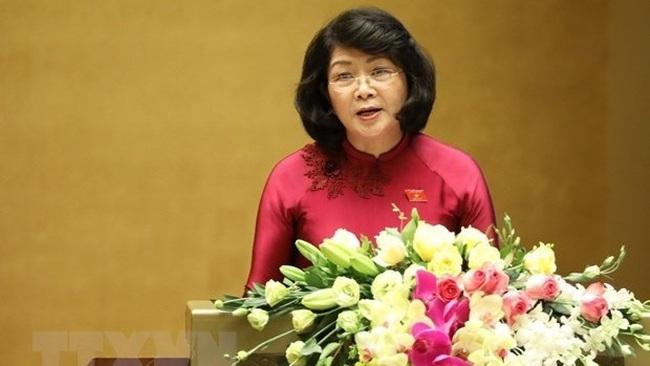 Vice President Dang Thi Ngoc Thinh (Photo: VNA)