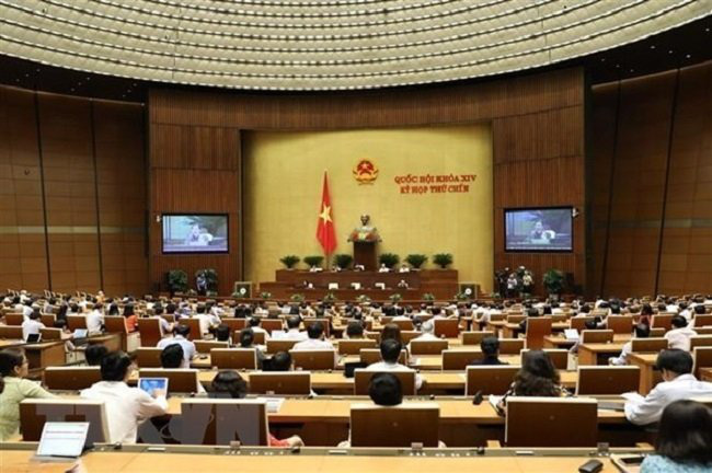 Overview of an NA plenary session. (Source: VNA)