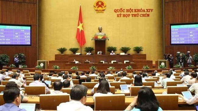 At the ninth session of the 14th National Assembly (Photo: VNA)