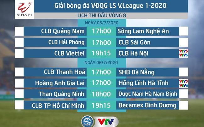 Lịch Thi đấu Va Trực Tiếp Vong 8 V League 2020 Clb Viettel Clb Ha Nội Hoang Anh Gia Lai Hồng Lĩnh Ha Tĩnh Vtv Vn
