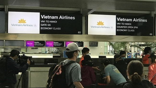 Vietnamese citizens brought home from US (Photo: Vietnamese Ministry of Foreign Affairs)