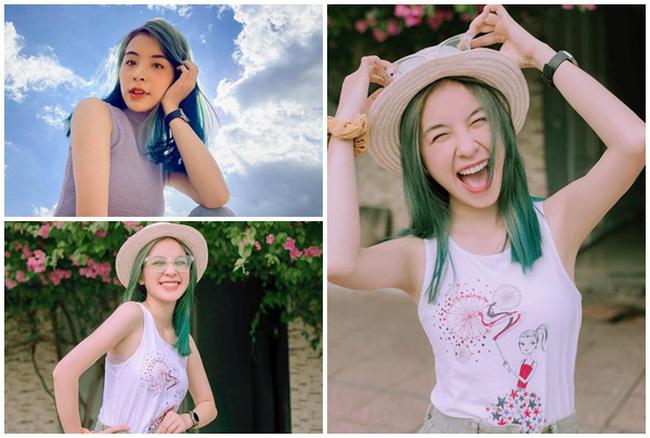 Trần Vân tự tin khoe nụ cười rạng rỡ với mái tóc xanh - ảnh 9