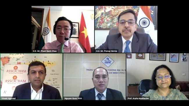 At the online conference (Photo: baoquocte.vn)