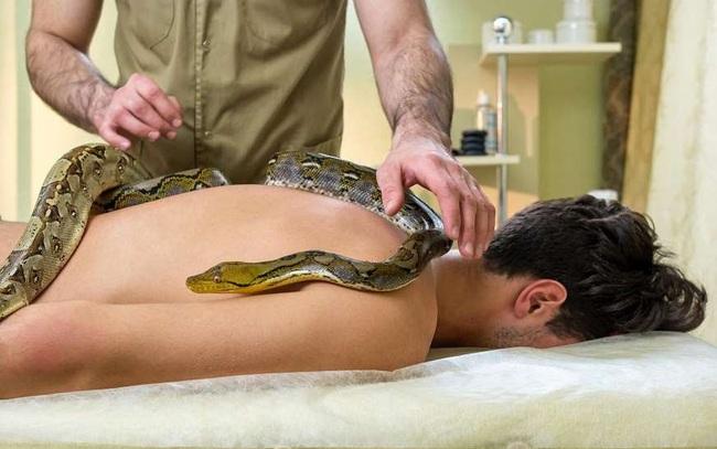 Massage lửa, thả rắn trên lưng,... 6 spa kỳ dị nhất thế giới ít ai dám thử - ảnh 7
