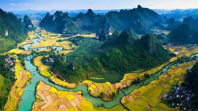 An aerial view of Non Nuoc Cao Bang Geopark (Photo: Insider)