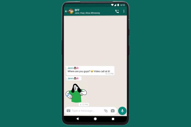 WhatsApp thêm nhãn dán hoạt hình mới cho tin nhắn trên Android và iOS - ảnh 1