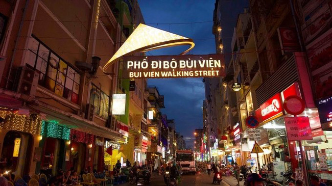 Bui Vien Walking Street in Ho Chi Minh City at night. (Illustrative image)