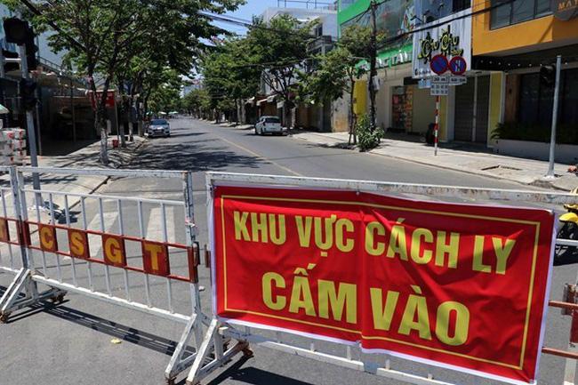 Nguyen Thi Minh Khai Street in Da Nang city is locked down (Photo: VNA)