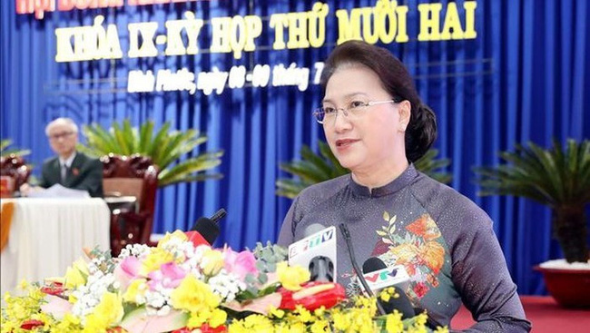 National Assembly Chairwoman Nguyen Thi Kim Ngan speaking at the event. (Photo: VNA)