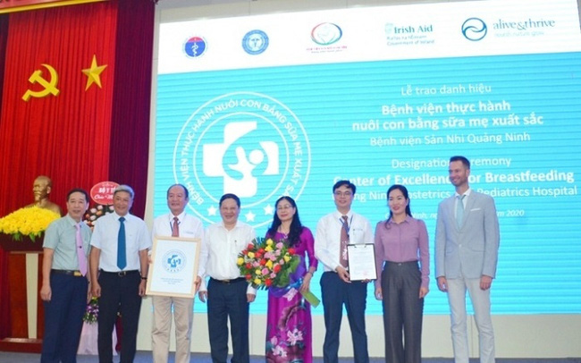 The Quang Ninh Obstetrics and Paediatrics Hospital receives the title