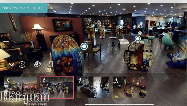 A corner of the showroom of Huong Nga Company via HOPE platform (Photo: haiquanonline)