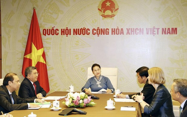 NA Chairwoman Nguyen Thi Kim Ngan hopes that following the establishment of the strategic partnership, the two countries will step up economic, trade, and investment ties. (Photo: VNA)