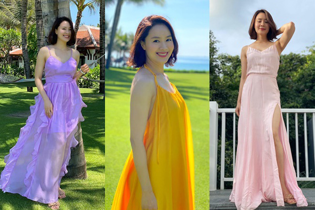 Học lỏm bí quyết diện váy dài thướt tha như Hồng Diễm | VTV.VN