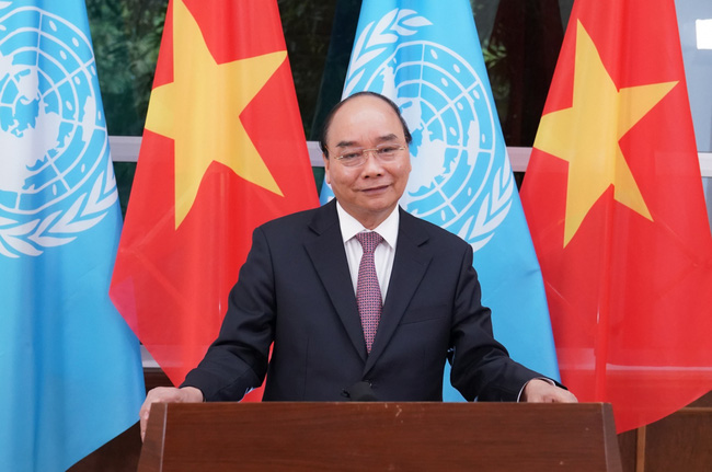 PM Nguyen Xuan Phuc voices Vietnam's commitment to promoting multilateralism in settling global issues. (Photo: VGP)