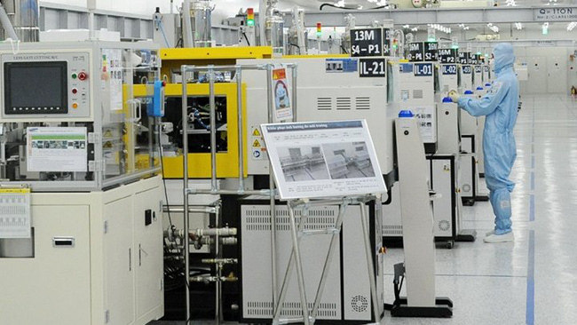 Production lines of Samsung electronics in Vietnam.
