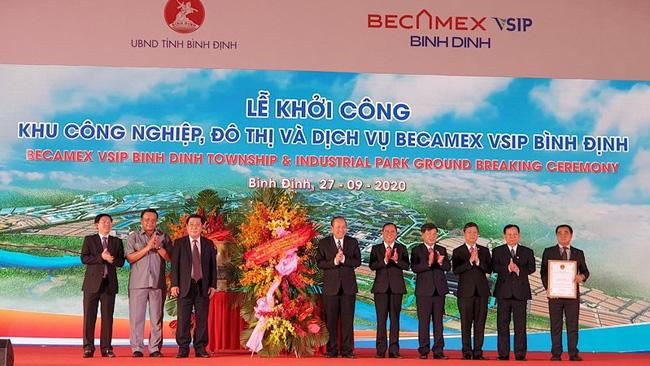 At the ground-breaking ceremony (Photo: NDO)