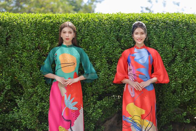 Á hậu Phương Anh, Ngọc Thảo gợi ý diện áo dài Tết nhiều màu - ảnh 9