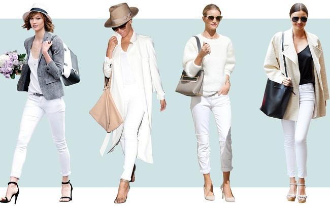 Muôn kiểu biến hóa thời trang chỉ với quần jeans trắng - ảnh 9