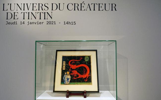 Đấu giá hơn 56 tỷ VNĐ cho bức vẽ người hùng truyện tranh Tintin - ảnh 4