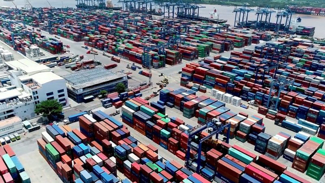 An overview of Cat Lai port in Ho Chi Minh City. (Photo: NDO)