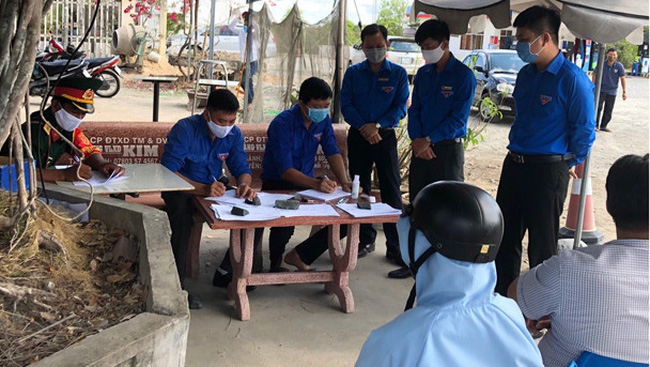 Ca Mau competent forces carry out epidemiological investigation of cases in close contact with suspected patients. (Photo: NDO)