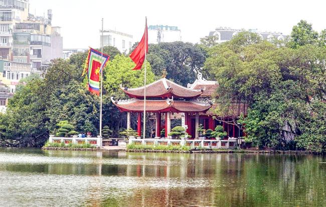 The temple was originally called Ngoc Son Pagoda. Photo: Bich Hoi