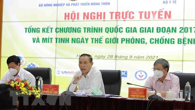 Deputy Minister of Agriculture and Rural Development Phung Duc Tien speaking at the conference. (Photo: VNA)