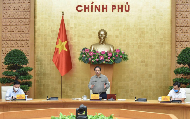 PM Pham Minh Chinh speaks at the meeting. (Photo: NDO/Tran Hai)