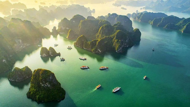 Ha Long Bay tops the list of top 10 most beautiful bays in the world.