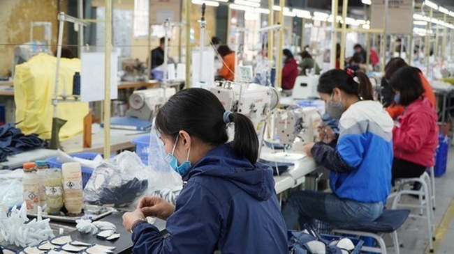 Workers produce shoes for exports.(Photo:VNA)