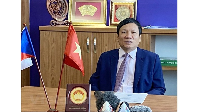 Hoang Dinh Thang, President of the Union of Vietnamese People Associations in Europe and Honorary Chairman of the Vietnamese People Association in the Czech Republic (Photo: VNA)