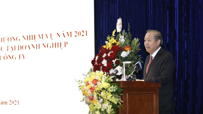 Deputy PM Truong Hoa Binh speaking at the conference (Photo: VGP)